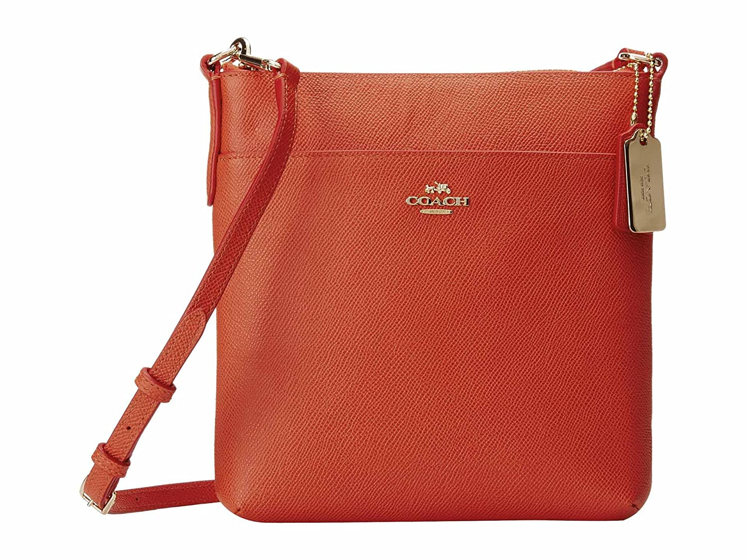 Coach 52348 Embossed Textured Leather North/south Swingpack, Coral