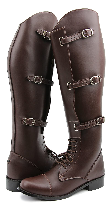 Hispar女性レディースクラウンフィールドHorse Riding BootsスタイリッシュなファッションEquestrian 10 2Plus Calf ブラウン B01H2NNWYS