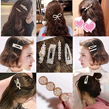 10Pcs Popular Charm Hair Clips For Women Hair Braided Ring Star Hairpins Clips