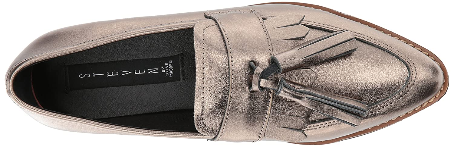 Amazon.com   STEVEN by Steve Madden Womens Naomie Penny Loafer, Pewter Leather, 8 M US   Loafers & Slip-Ons