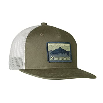 pretty nice d3a1c c290e Sage Fly Fishing Patch Trucker Baseball Hat, Green, One Size Fits All