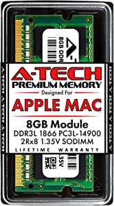 A-Tech 8GB RAM for Late 2015 iMac 27 inch Retina 5K | DDR3L 1866MHz / 1867MHz PC3L-14900 SO-DIMM 204-Pin CL13 1.35V Non-ECC Unbuffered Memory Upgrade Module