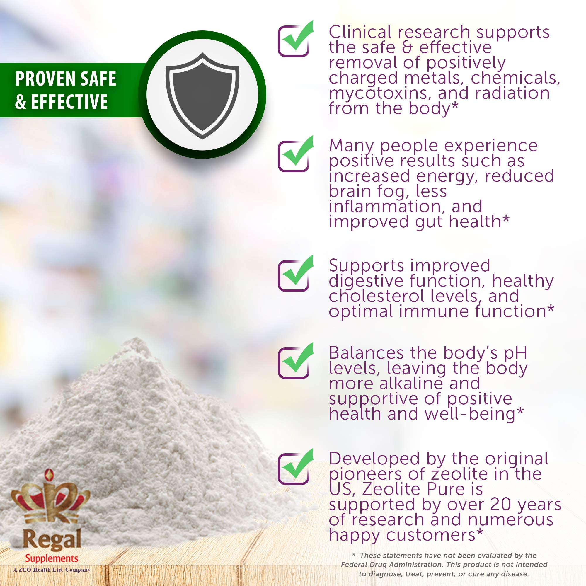 ZEOLITE PURE | Full Body Detox Cleanse | Safe, Gentle, & Effective Energy Booster that Supports Gut Health, Mental Clarity, & Healthy Inflammation Response| Original Zeolite Powder (400 Servings) by ZEOLITE PURE (Image #4)