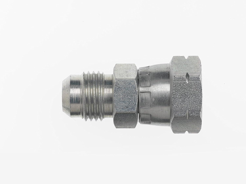 Brennan Industries 7007-12-S25-36 Steel Heavy Straight Conversion Adapter Fitting 1-1//16-12 Male JIC x M36 x 2 Female Metric Swivel 1-1//16-12 Male JIC x M36 x 2 Female Metric Swivel Inc.