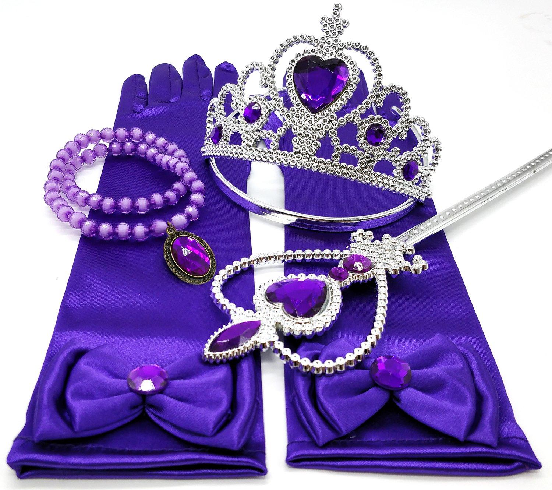 Alead princesa Rapunzel morado vestir accesorios para las niñas 4 ...