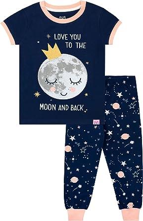 Harry Bear Pijamas para niñas Luna Ajuste Ceñido