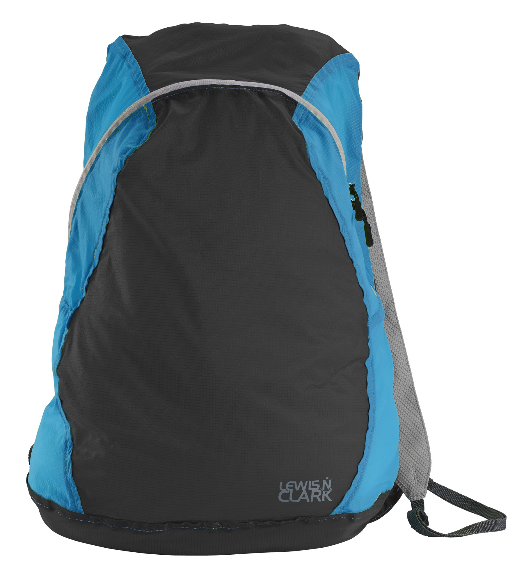 Lewis N Clark ElectroLight Multipurpose Packable Lightweight Travel Backpack, Charcoal/Bright Blue, One Size
