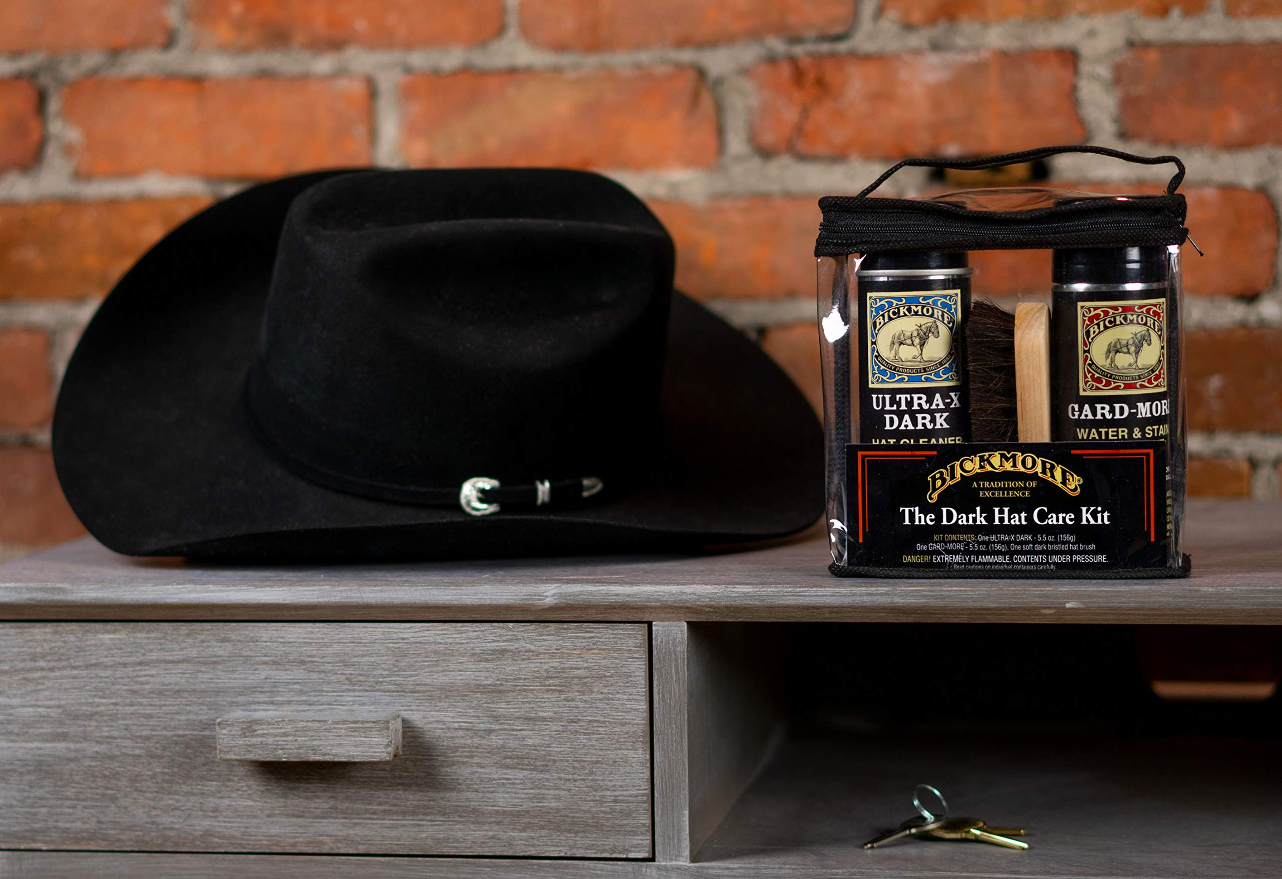 Bickmore Ultra-X Powdered Dark Hat Cleaner Kit - Remove Dirt, Dust, Fingerprints & Sweat Stains - Great for Fur - Felt Cowboy Hats, Baseball Hats, Fedoras, Sun Hats & More by Bickmore (Image #5)