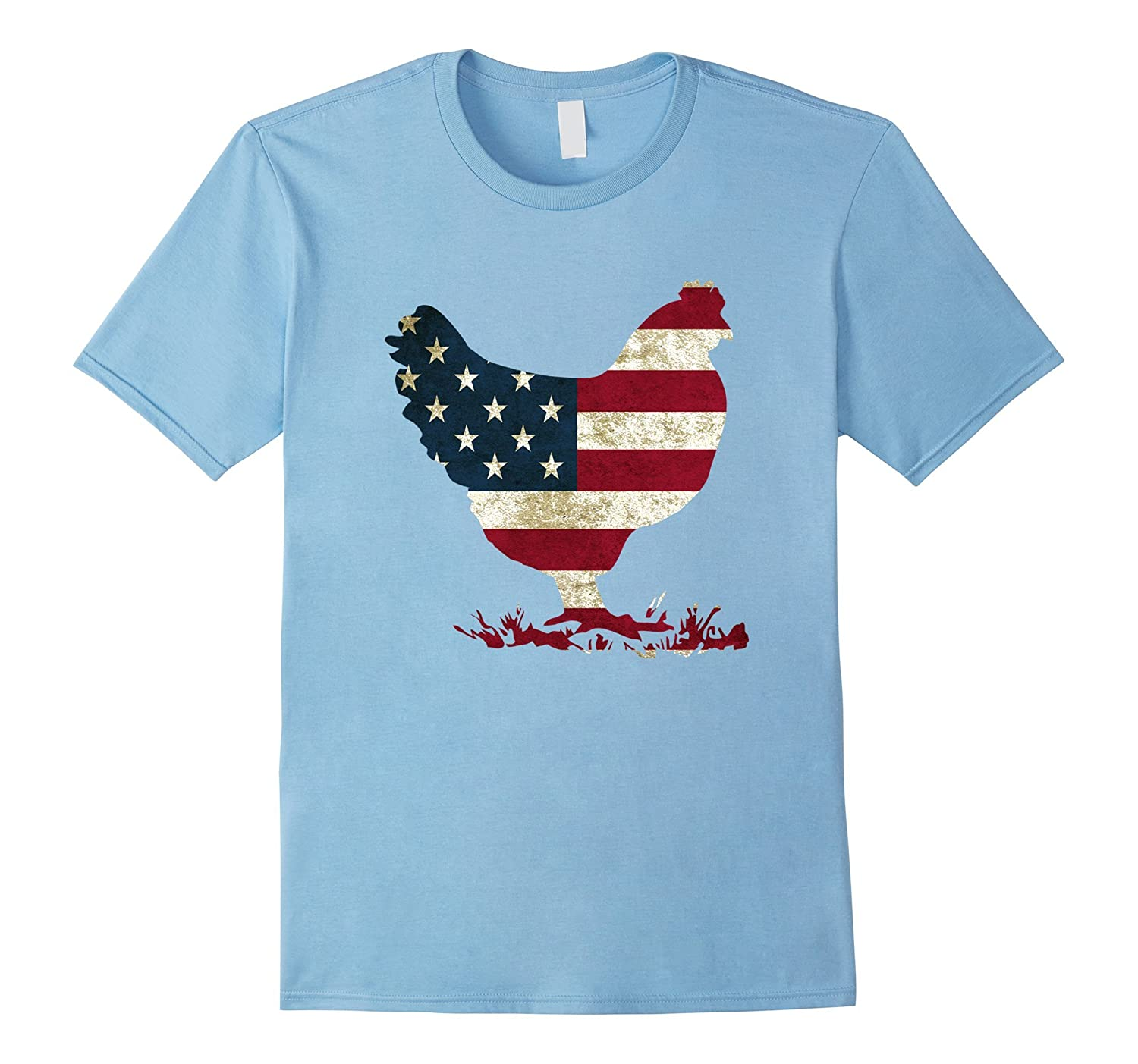 4th Of July Patriotic Chicken Lady American Flag Shirt-Art