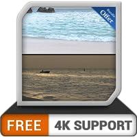 playa y playa gratis día y noche: cambie su estado de ánimo con la salida del sol en la costa deslumbrante en su TV HDR…