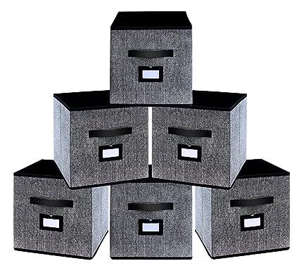 homyfort Caja de Almacenaje con 6 pcs, Set de 6 Cajas de Juguetes, Caja