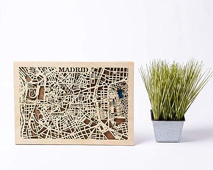 Mapa de Madrid, mapa de España, arte de pared, regalo de ...