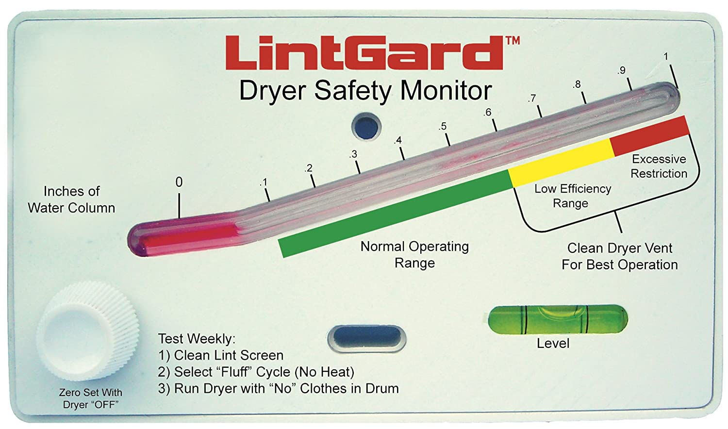 Gardus LintGard Dryer Safety Monitor LGM7