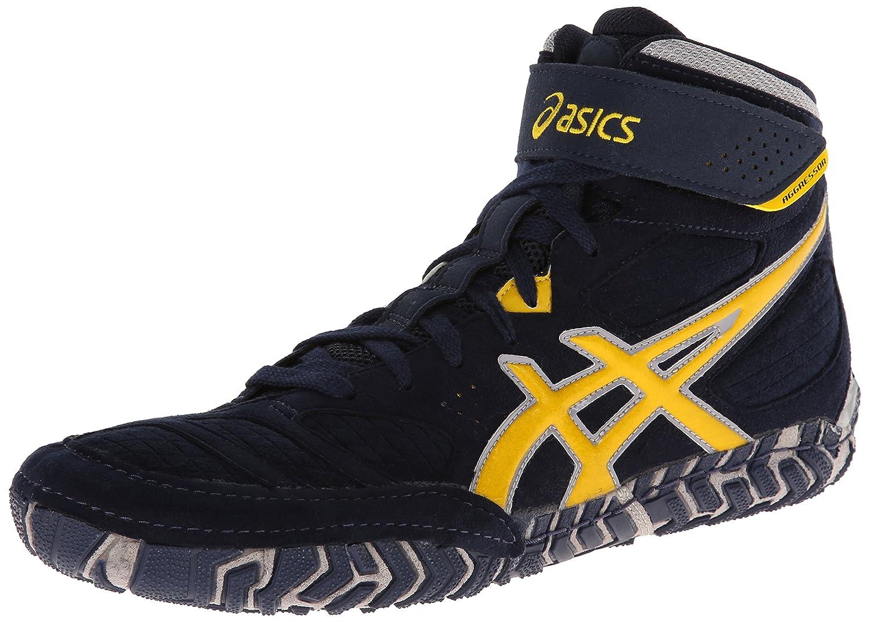 ASICS Men's Aggressor 2 Wrestling Shoe B00GY6OK78 12 D(M) US Navy/Sunflower/Silver