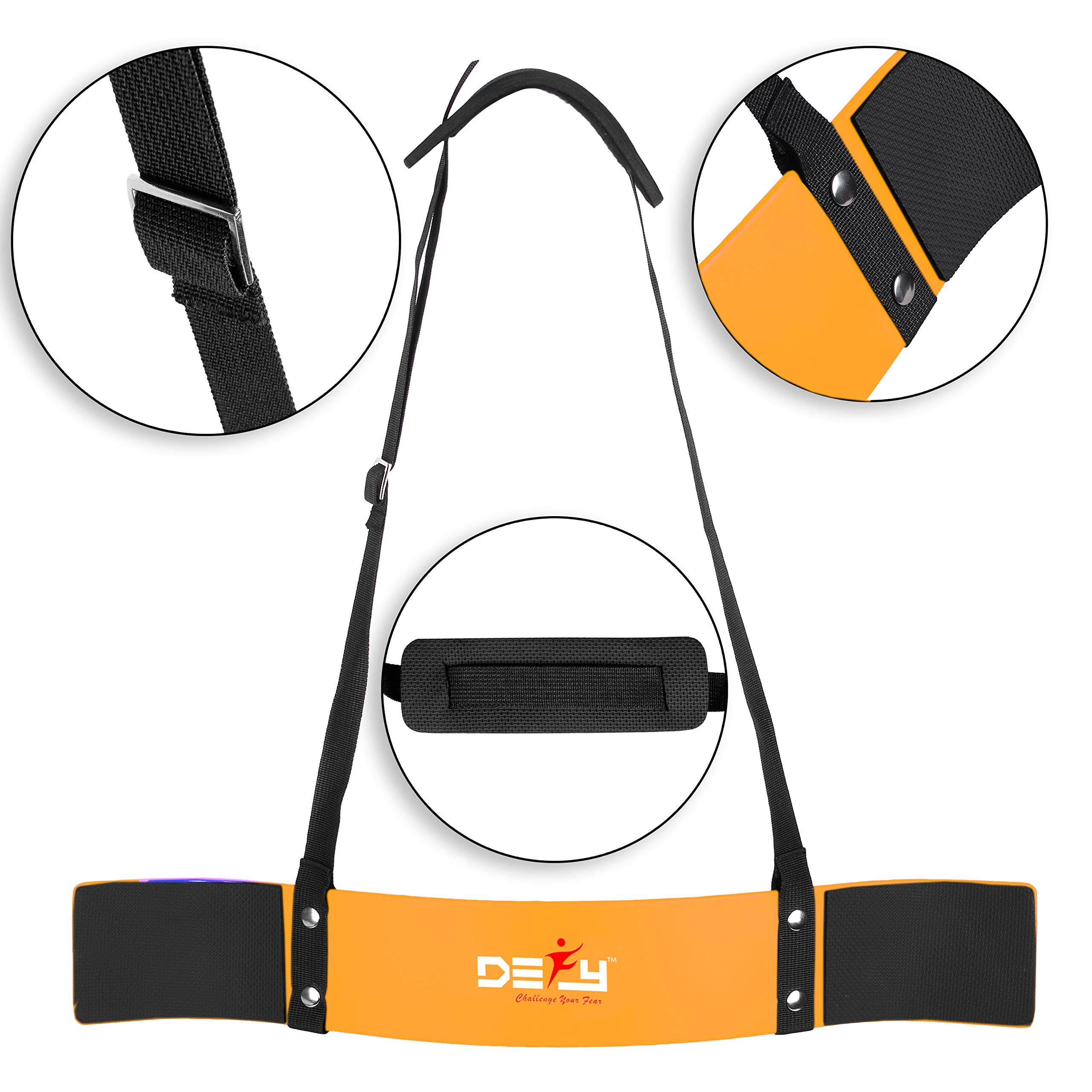 DEFY Heavy Duty Arm Blaster for Biceps and Triceps Workout Ideal Bicep Isolator & Muscle Builder for Bodybuilders and Weight Lifters with Advanced Neoprene Padding for Secure Workout (Gold)
