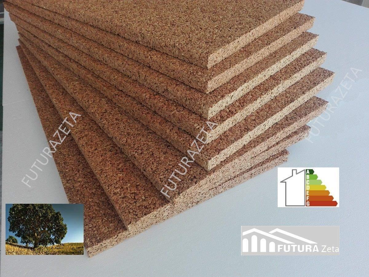 Densidad aumentada 175//180/kg//MC calidad superior grosor 2/cm Corcho rubio aislamiento t/érmico y ac/ústico.
