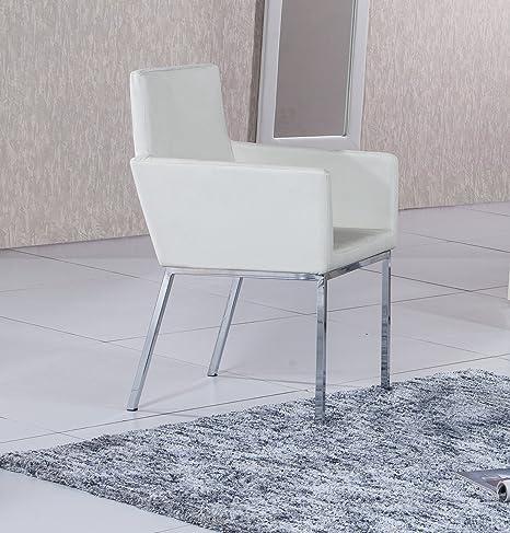Butaca tapizada y estructura metálica cromada modelo QUICK ...