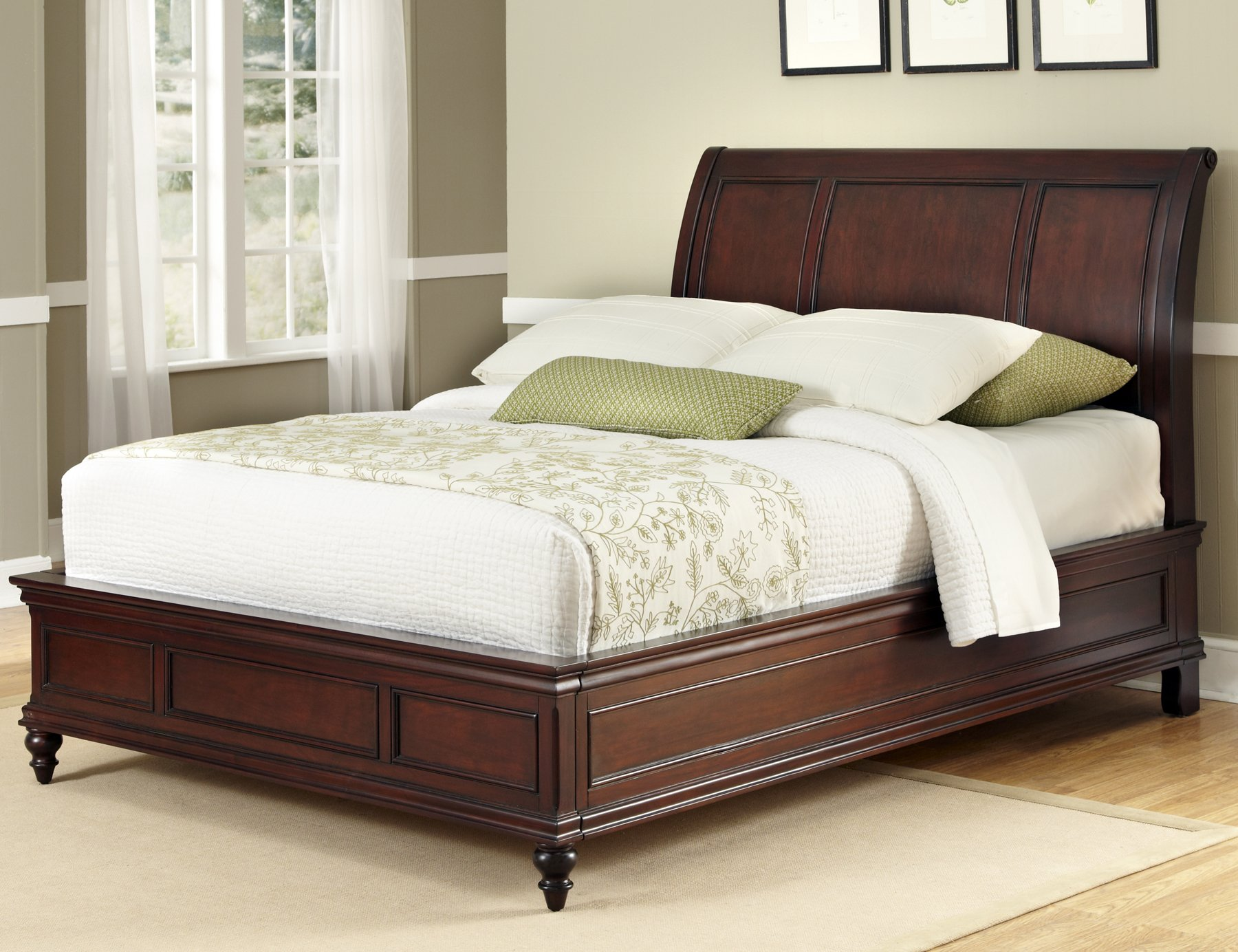sleigh amazon size kitchen king french bed uk frame oak dp home super solid co