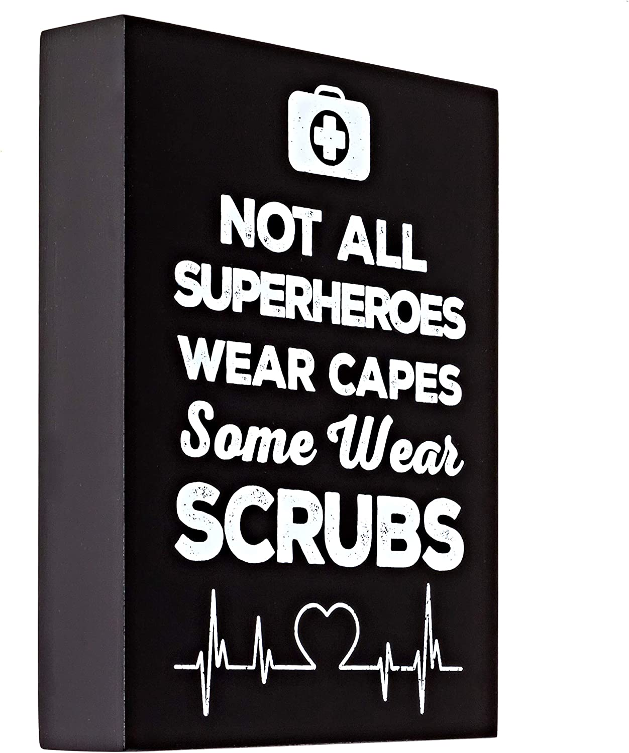 Nurse Decor for Office or Home – Premium Quality Not All Superheroes Wear Capes Nurse Plaque – 6 x 8 x 1.5 Inch Nurse Home Decor – Ideal for Special Occasions