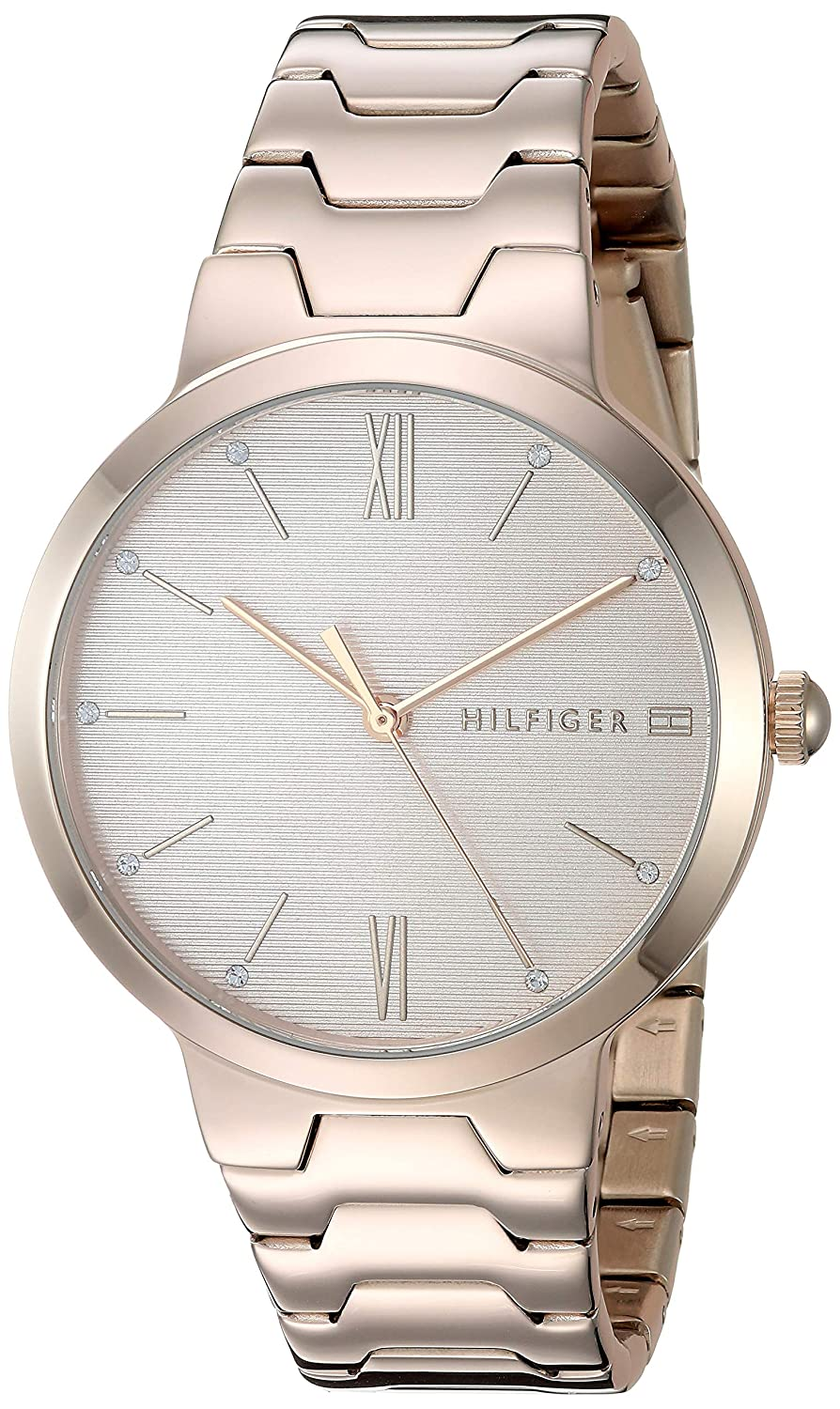 Tommy Hilfiger Womens Stainless Steel Quartz Watch with Carnation Gold Strap  16  Model  1781959