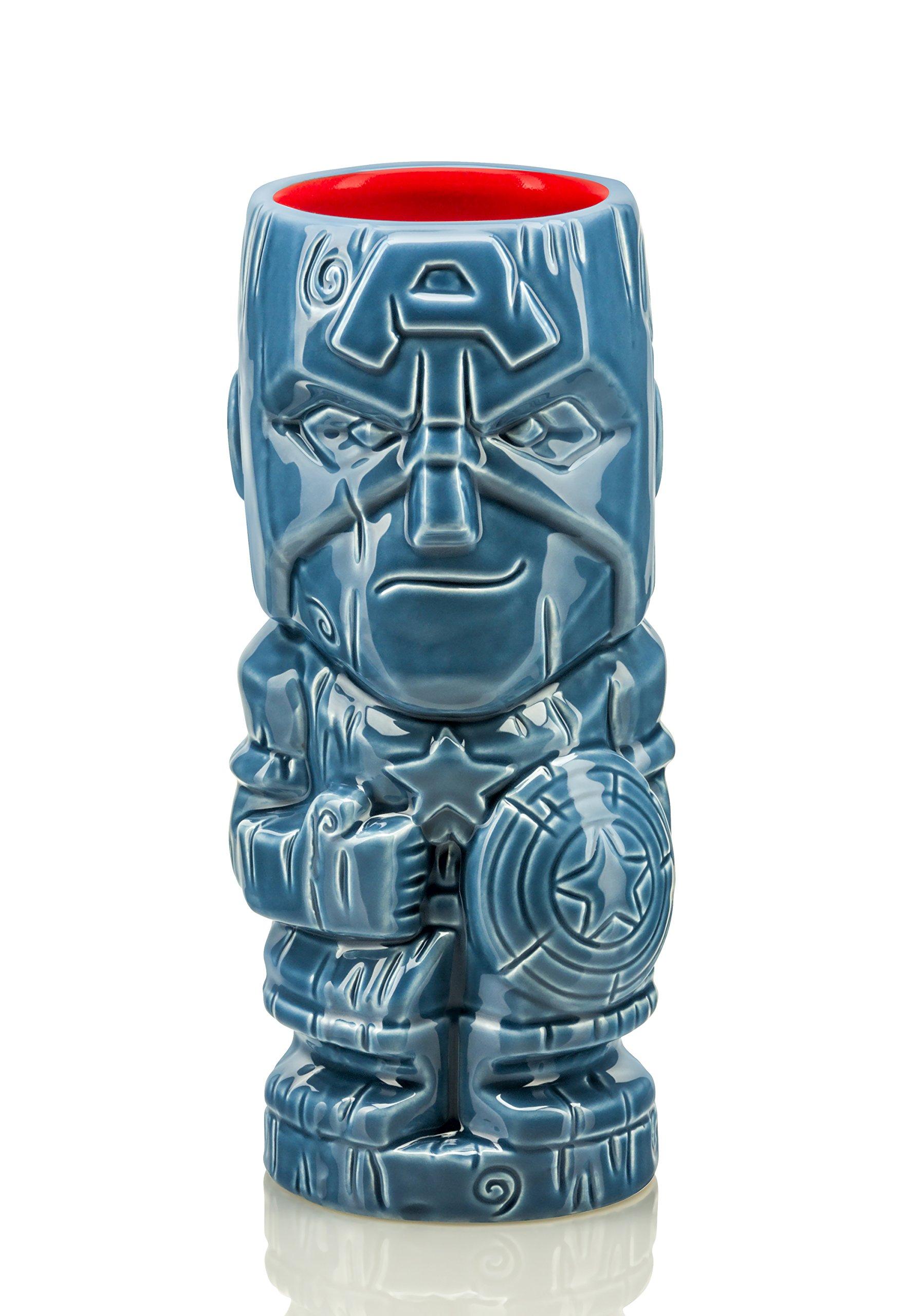 Marvel Geeki Tikis - 14 oz Ceramic Mug - Captain America