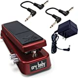 Dunlop SW95 Slach Wah with ECB004 18volt Power Supply and 2 6in Patch Cables