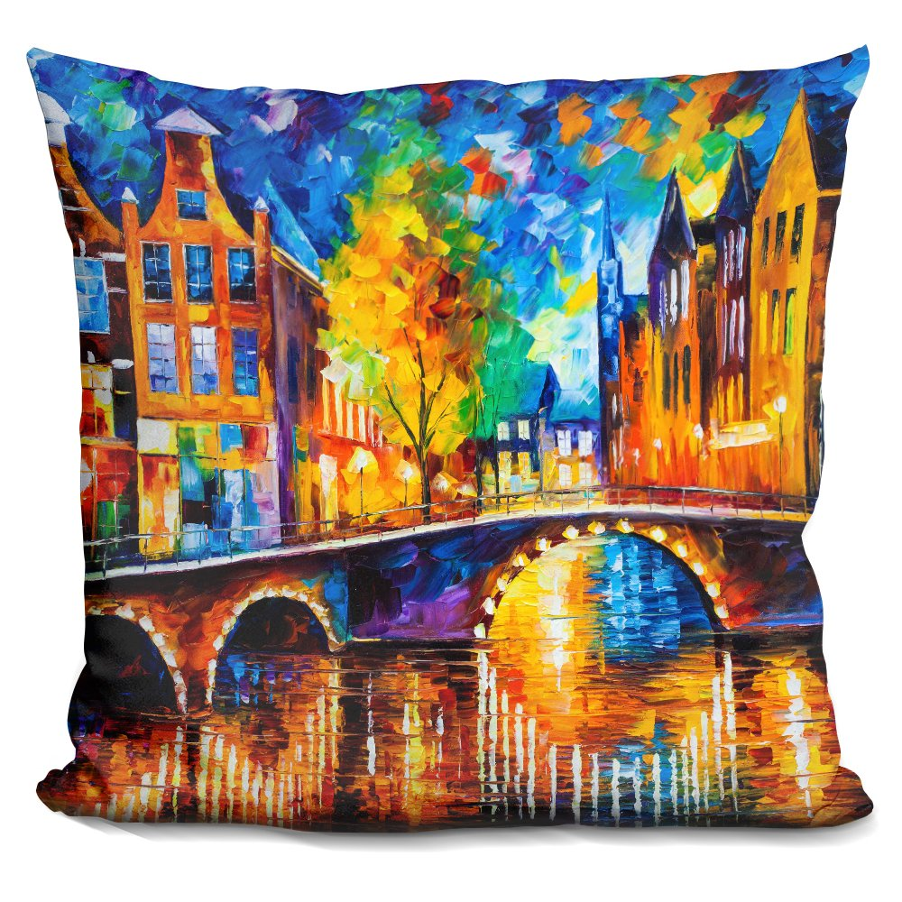 LiLiPi The Bridges Amsterdam Decorative Accent Throw Pillow
