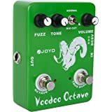 JOYO JF-12 Voodoo Octave Guitar Effects Pedal with Fuzz Mode and Distortion