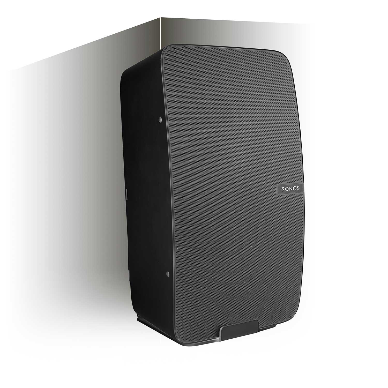 Vebos corner wall mount Sonos Play 5 gen 2 black - vertical en optimal sound experience in every room - Compatible with SONOS PLAY:5 by Vebos