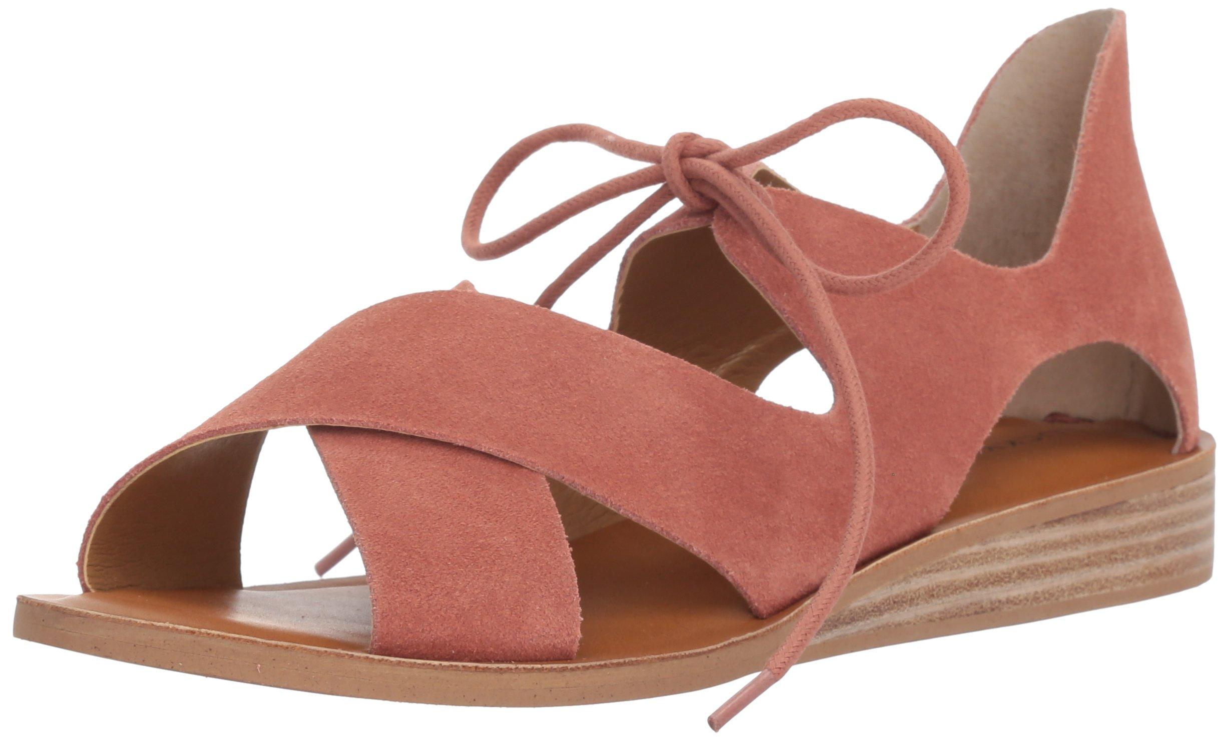 Lucky Brand Women's Hafsa Flat Sandal, Canyon Rose, 7.5 M US
