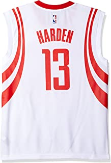 NBA Mens Houston Rockets James Harden Replica Player Home Jersey, 2X-Large, White