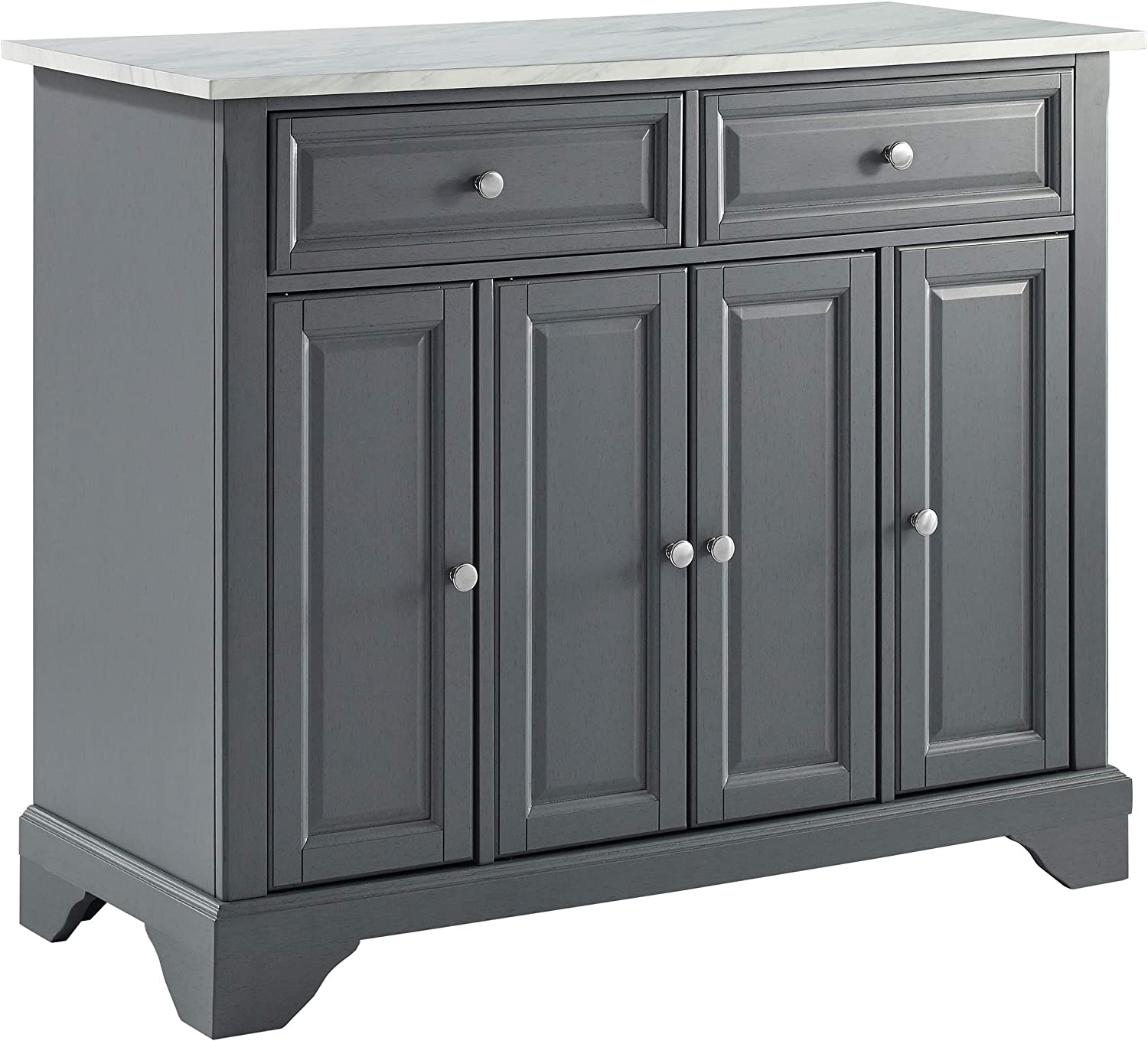 Amazon Com Crosley Furniture Avery Kitchen Island With Paper Marble Top Gray Islands Carts