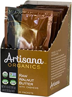 product image for Artisana Organics Raw Walnut Butter with Cashews, 10 Snack Pouches