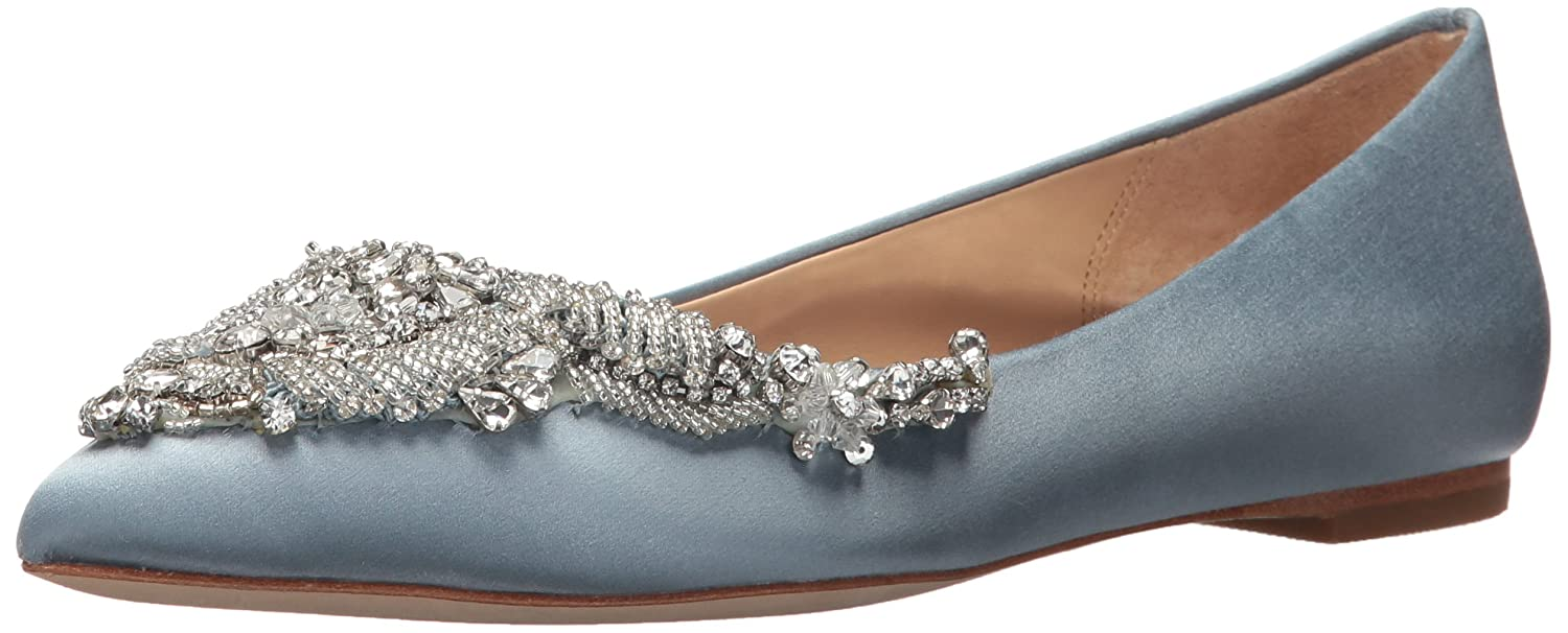 Badgley Mischka Women's Malena Ballet Flat B07483TW3C 5.5 B(M) US|Cloudy Blue