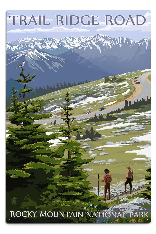【年間ランキング6年連続受賞】 Trail Ridge x Road LANT-33682-11x14M – ロッキーマウンテン国立公園 Ridge 11 x 14 Matted Art Print LANT-33682-11x14M B06Y1DZR71 12 x 18 Metal Sign 12 x 18 Metal Sign, BELLPIERI:641c21df --- mcrisartesanato.com.br