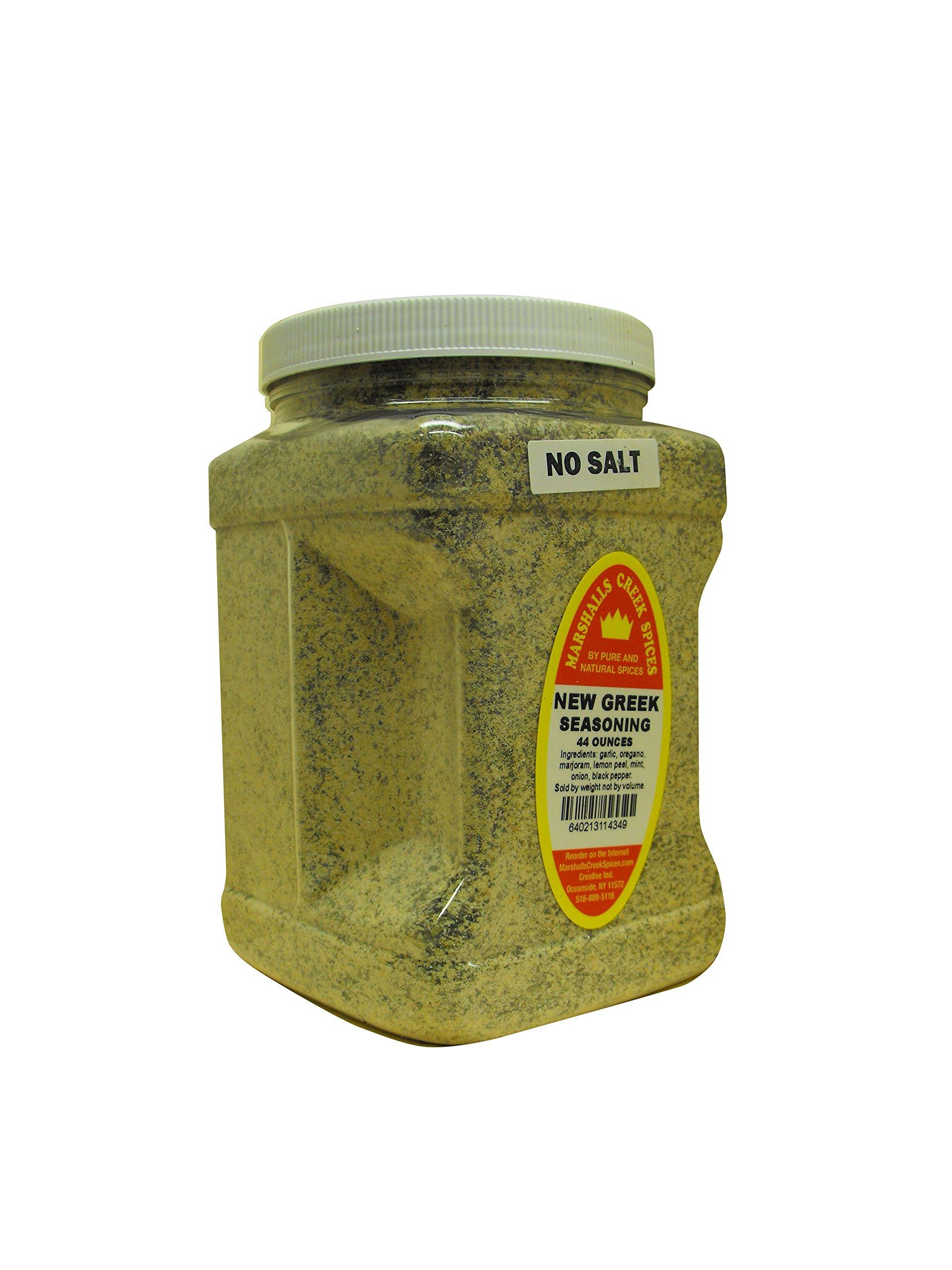 Marshalls Creek Spices Family Size New Greek No Salt Seasoning, 44 Count