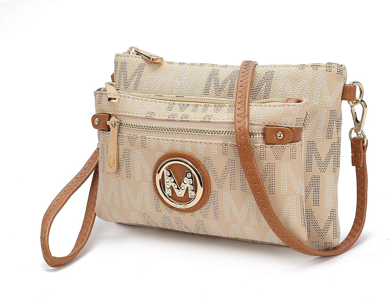 Mia K Collection Crossbody bag for women - Adjustable Strap - PU leather Crossover Designer messenger Purse