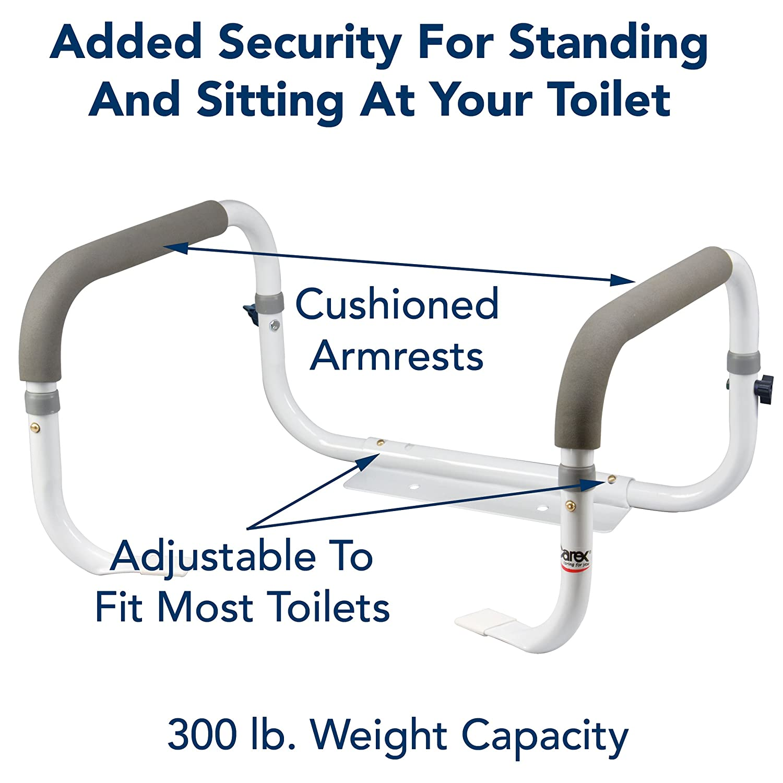 Carex Health Brands Toilet Support Rail
