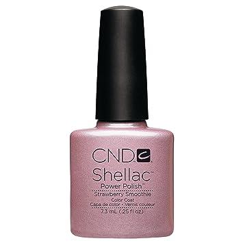 Amazon Cnd Shellac Nail Polish Strawberry Smoothie 025 Fl