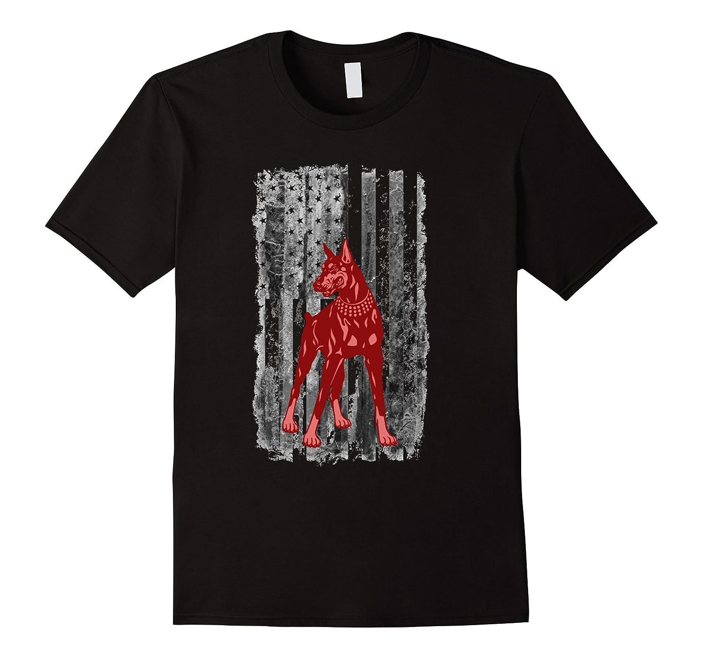 American Doberman T-Shirt-Art