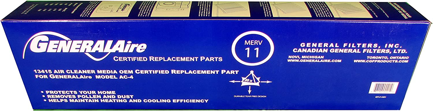 General Aire Genuine OEM Replacement Media Filter 13415 Fits Model AC-4