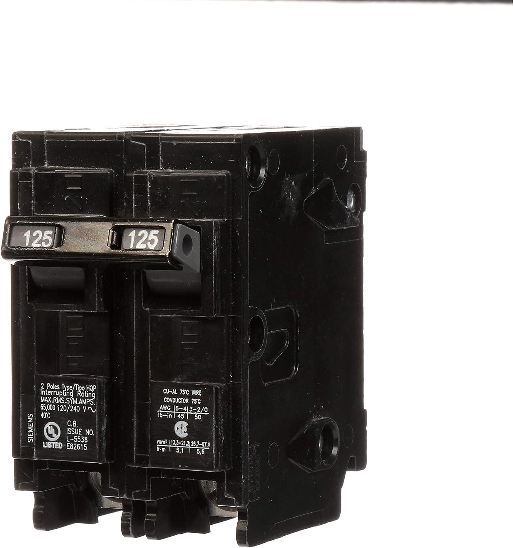 Q2125HH 125-Amp Double Pole 65kA Type HQP Circuit Breaker