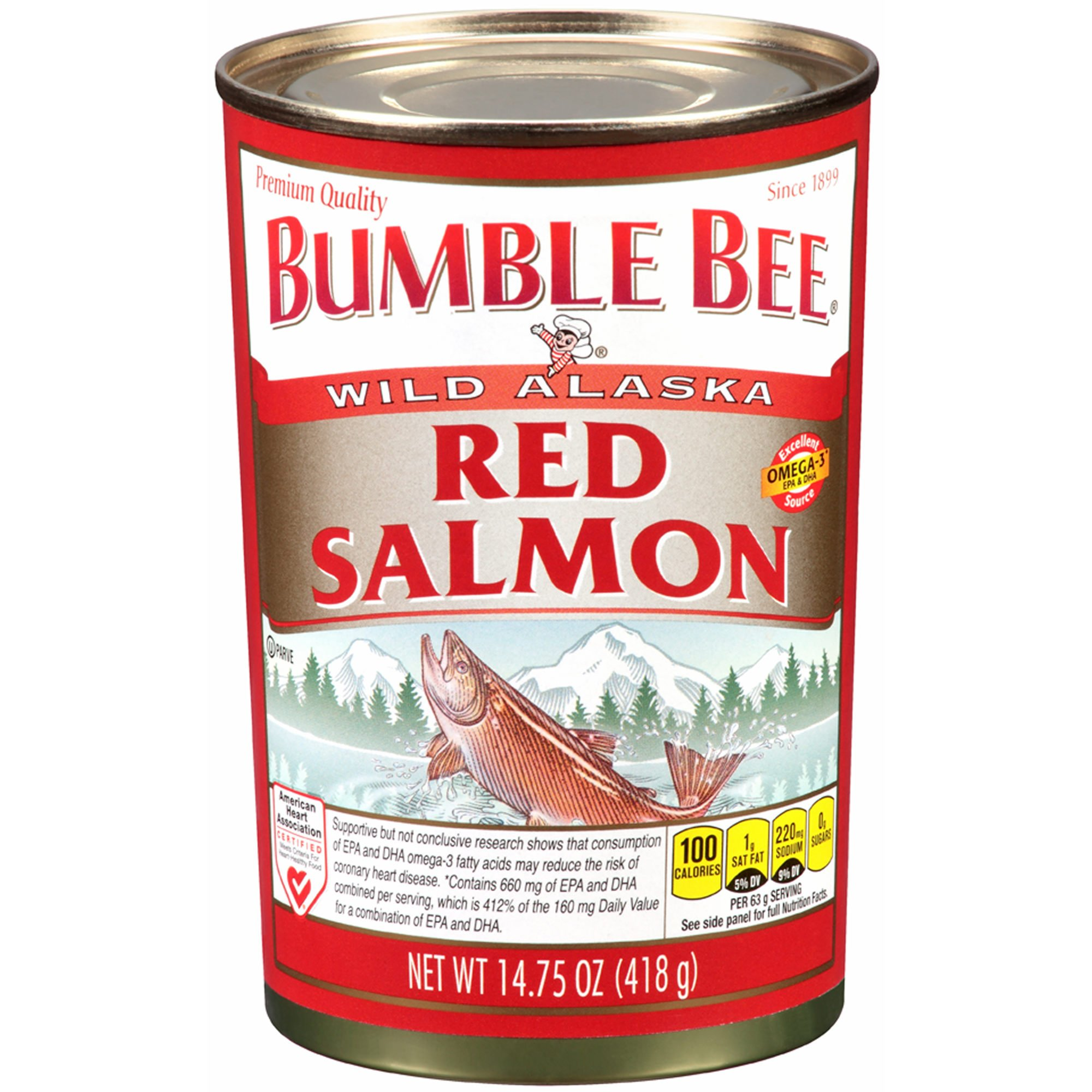 Bumble Bee Wild Alaska Red Salmon, 14.75 oz. (pack of 2) by Bumble Bee