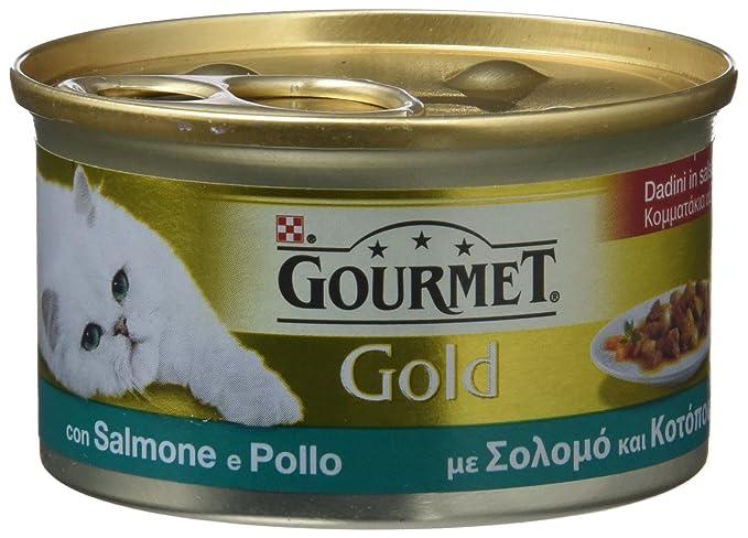 Gourmet - Gold Bocaditos en Salsa con Salmón y Pollo, 85 g - [Pack