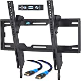 Mounting Dream MD2268-MK TV Wall Mount Tilting Bracket for Most 26-55 Inch LED, LCD and Plasma TVs up to VESA 400 x 400mm and 100 LBS Loading Capacity, 6 FT HDMI Cable and Torpedo Level
