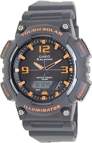 Casio Mens Sport AQS810W-8AV Grey Rubber Quartz Watch with Black Dial