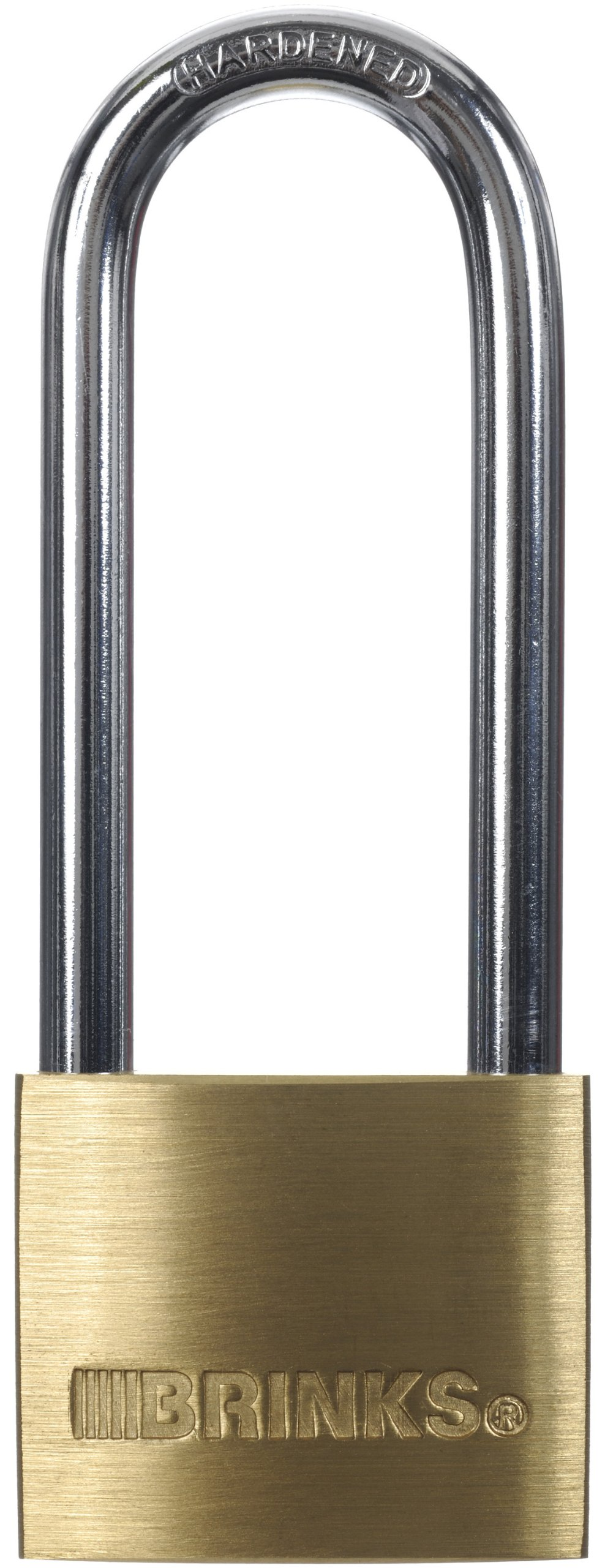 Brinks 161-42001 1-9/16-Inch 40mm Solid Brass Padlock with 2.5-Inch Shackle, 1-Pack