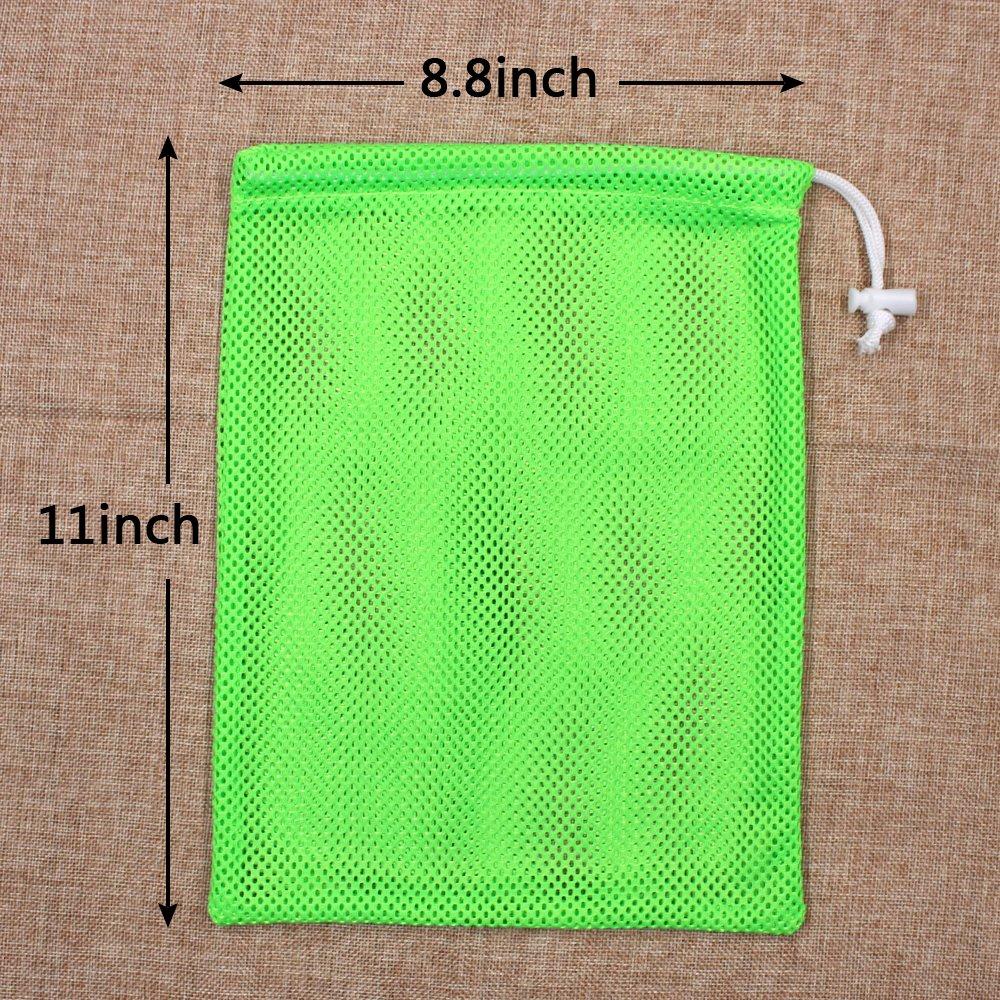 6 PCS Nylon Mesh Drawstring Storage Bag Equipment Bag Stuff Sack Golf Ball Bag ,Assorted by Erlvery DaMain (Image #1)