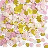 Outus 1 Inch Paper Confetti Round Tissue Confetti Party Circle Paper Table Confetti, 10000 Pieces, 4 Colors