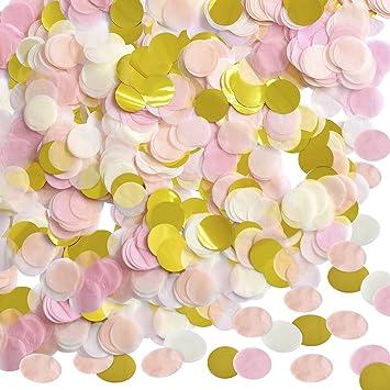 1 Pulgada Confeti de Papel Confeti de Seda Redondo Papel de Círculo de Fiesta Confeti de Mesa, 10000 Piezas, 4 Colores: Amazon.es: Juguetes y juegos
